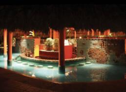 Marken-Innenarchitektur-Möbel-Vertrag-Hotel-Luxus-Brunnen-Außen-asiatischen-Stil