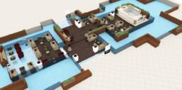 marques-design d'intérieur-meubles-design-cafétéria-sur-mesure-classe-luxe-nakheel