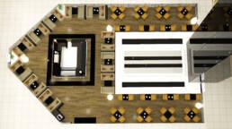 marques-design d'intérieur-meubles-design-restaurant-rendu