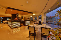 Marken-Innenarchitektur-Vertrag-Möbel-Restaurant-Luxus-Japanisch-Küche-Blick