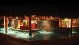 Kreationen-Gartenmöbel-Pool-Bar-Sandalen-Hotel-