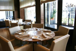 Kreationen-Innenarchitektur-Restaurant-Luxus-Lugano-Schweiz-Möbeltisch