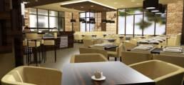 Innenarchitektur-Luxus-Café-Nairobi