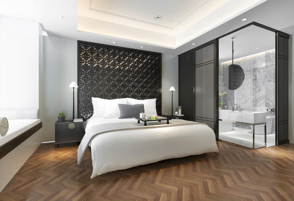 arredamento camera moderna suite hotel di lusso